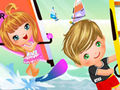 Couple baby windsurfing dress up